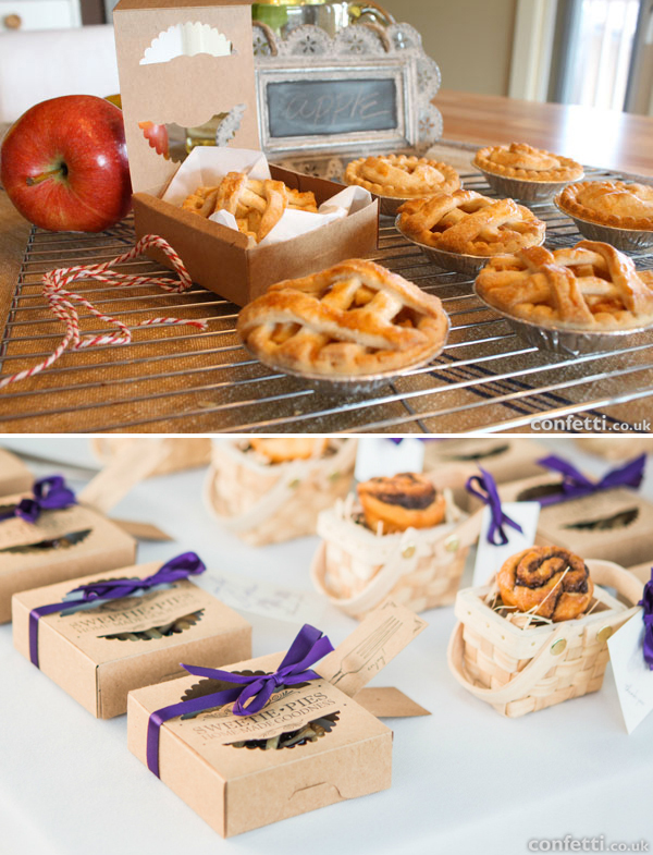 Mini pie packaging ideas | Confetti.co.uk