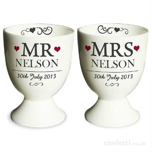 Christmas gift Personalised egg cups