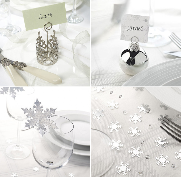 Your first christmas as mr and mrs made easy for Homemade christmas table decorations uk