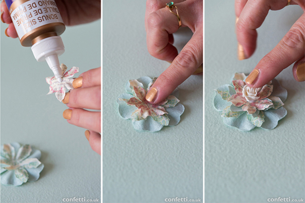 Fabric flower decorations | Confetti.co.uk