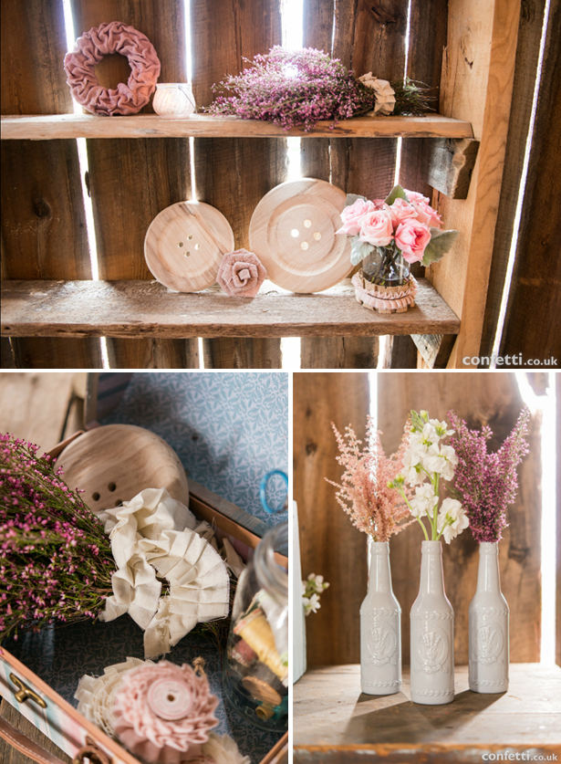 Shabby chic DIY wedding ideas | Confetti.co.uk