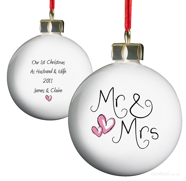 Your First Christmas As Mr And Mrs Made Easy Confetti Co Uk