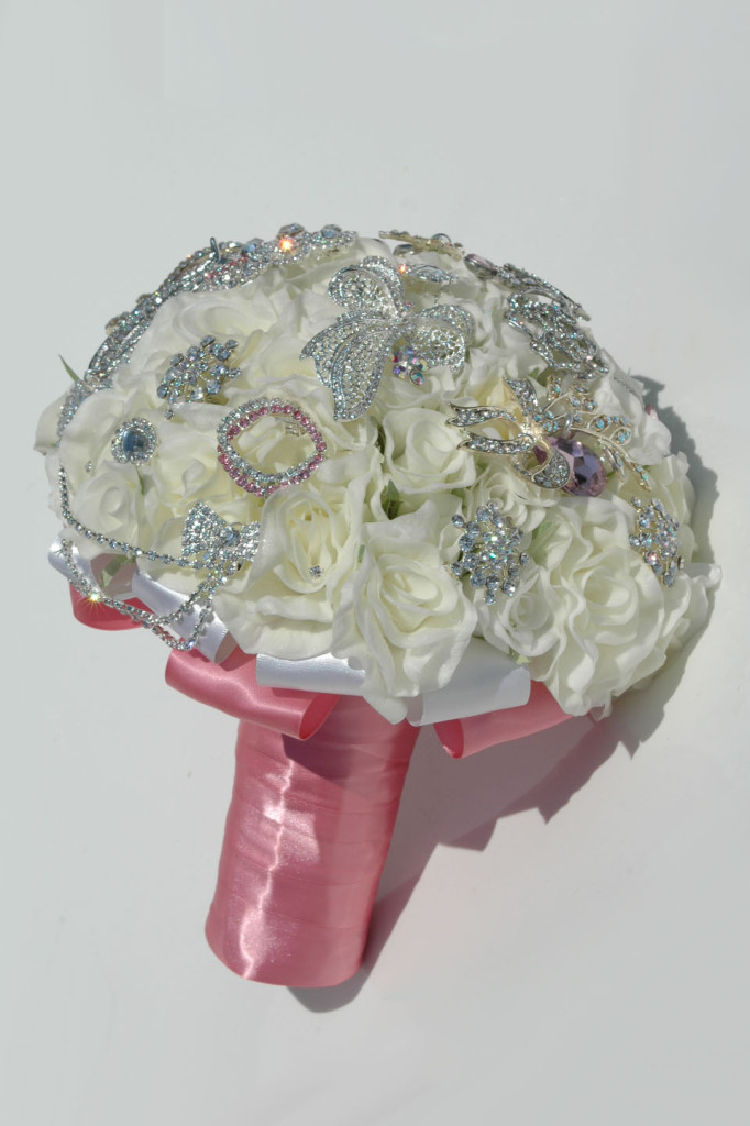 Enhance your artificial flower bouquet with crystals and rhinestones | Confetti.co.uk