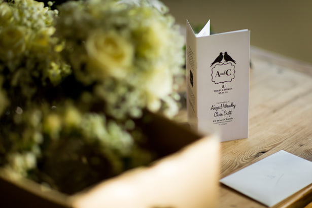Personalised order of service| Abigail and Chris's Real Christmas Wedding | Confetti.co.uk