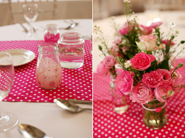Amazing DIY Ideas From Our Real Weddings | PInk and white polka dot wedding decor | Confetti.co.uk