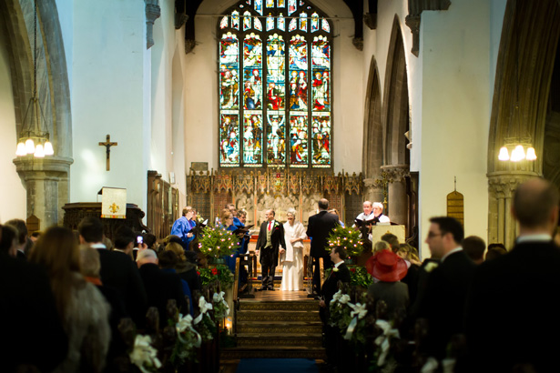The newlyweds | Abigail and Chris's Real Christmas Wedding | Confetti.co.uk
