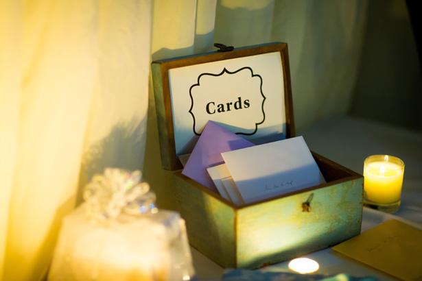 Wooden card box | Abigail and Chris's Real Christmas Wedding | Confetti.co.uk