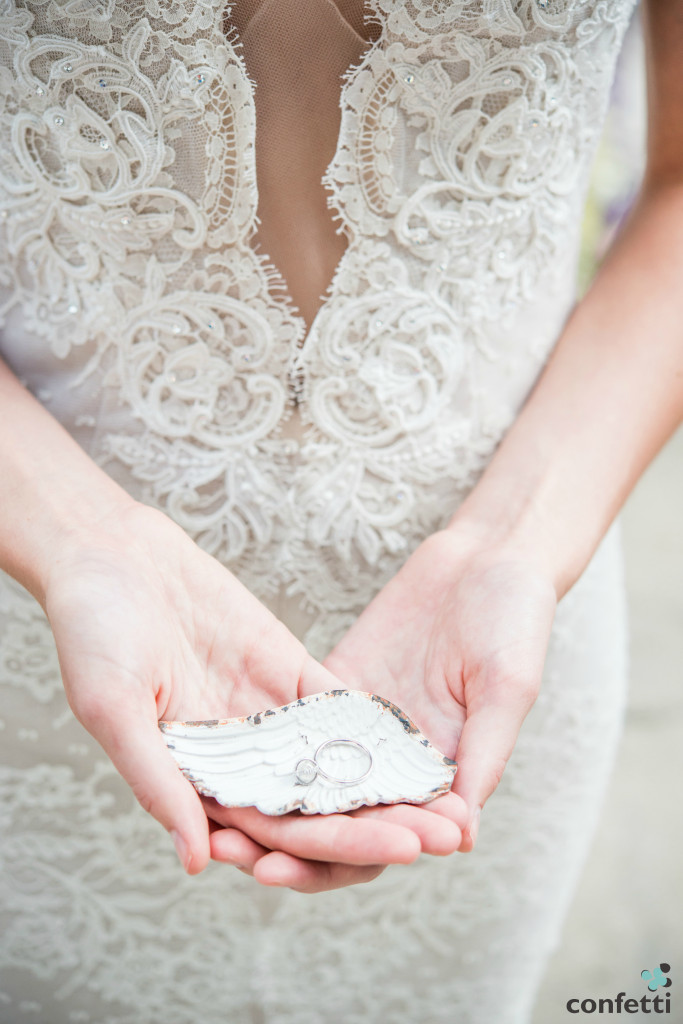 Bride with Confetti.co.u's Feather Ring Dish