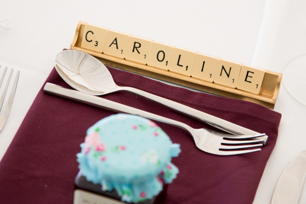 Amazing DIY Ideas From Our Real Weddings | Scrabble place card | Fun Place card ideas | Confetti.co.uk