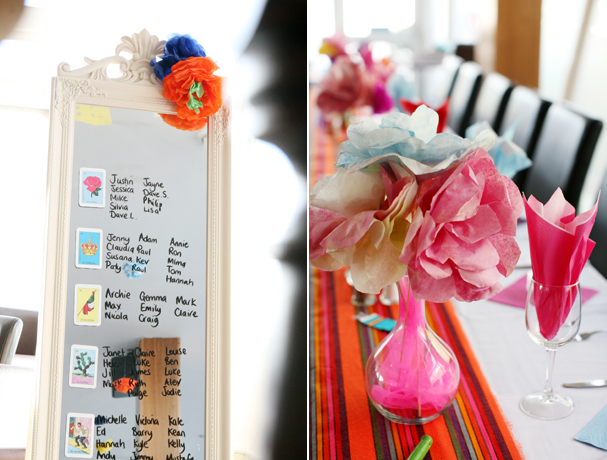 Amazing DIY Ideas From Our Real Weddings | Colourful tissue table decor | Confetti.co.uk