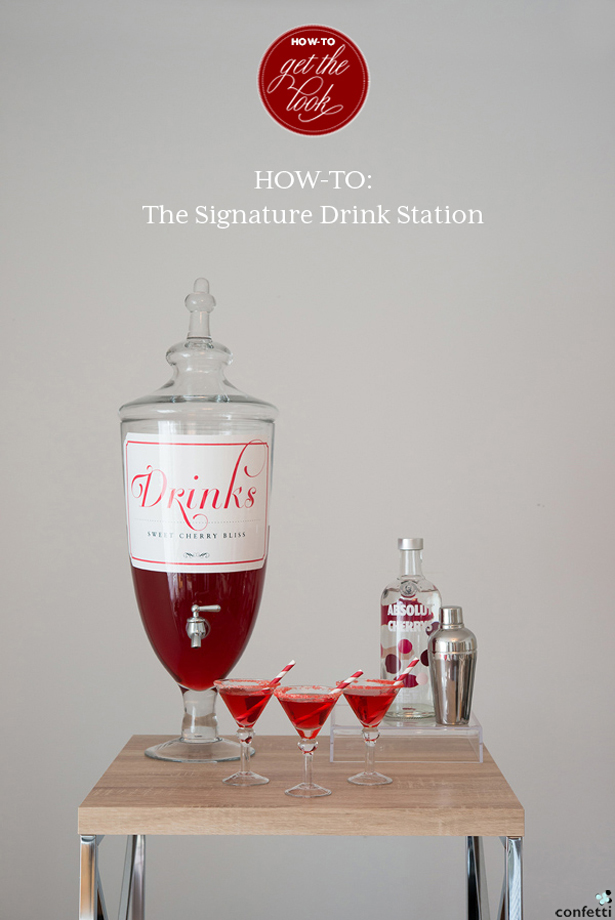 Signature Drink Station DIY Tutorial | Confetti.co.uk