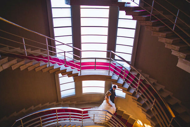 Spiral staircase at Midland Hotel Lancashire Art Deco Venue