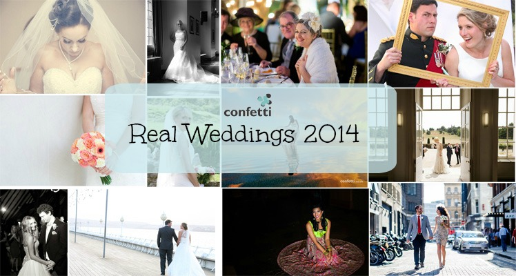 2014's Best Real Weddings from Confetti.co.uk
