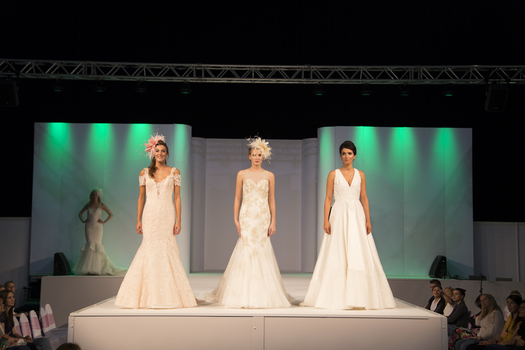 Models on the catwalk during the UK Wedding Shows 2015