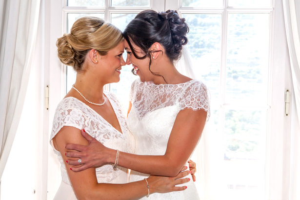 The bride and bridesmaid hugging | Wedding moments you want to capture | Leanne and Chris's Real Italian Wedding | Confetti.co.uk