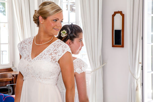 The bridesmaids in white lace dresses | Wedding moments you want to capture | Leanne and Chris's Real Italian Wedding | Confetti.co.uk