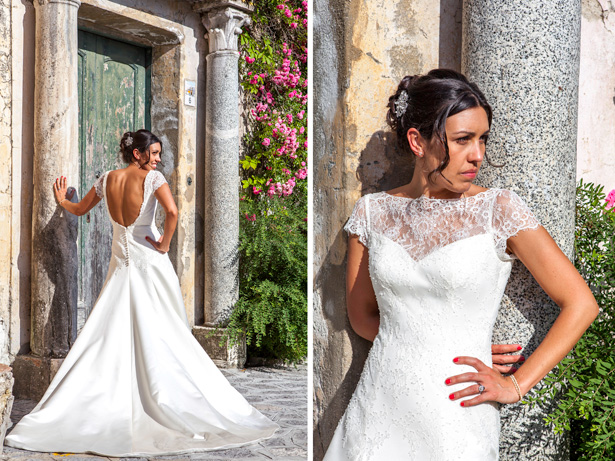 Official wedding shoot by Debbie Sanderson Wedding Photography| Bride in her lace Augusta Jones dress in Ravello, Italy | Wedding moments you have to capture | Leanne and Chris's Real Italian Wedding | Confetti.co.uk