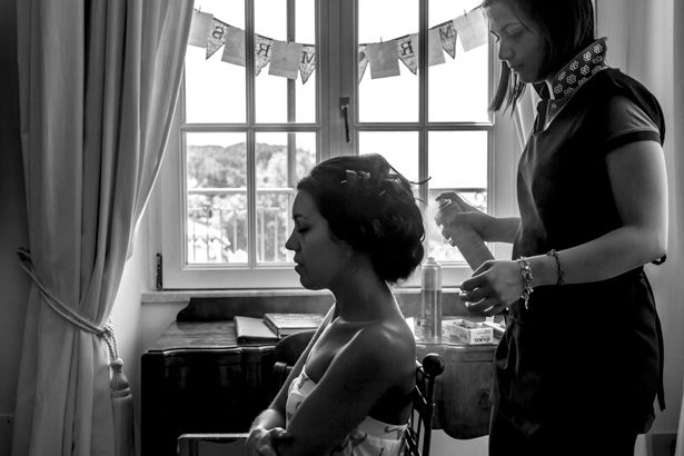 Bride getting ready for her big day| Leanne and Chris's Real Italian Wedding | Confetti.co.uk