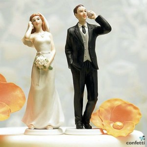 Cake topper with water mark