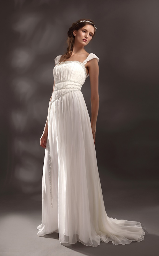 Greek goddess style wedding dresses for Wedding dress pick up style