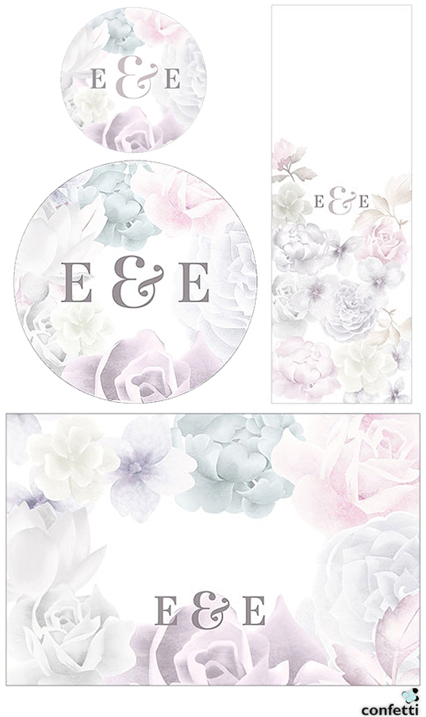 Pastel Flowers Wedding Stationery | Confetti.co.uk