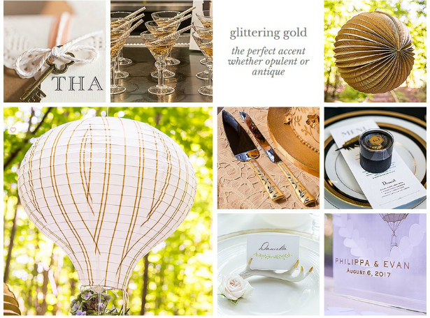 Gold Wedding Theme from Confetti.co.uk
