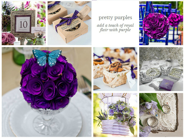 Purple Wedding Theme from Confetti.co.uk