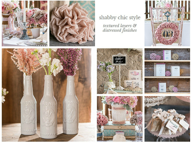 Shabby Chic Wedding Theme from Confetti.co.uk
