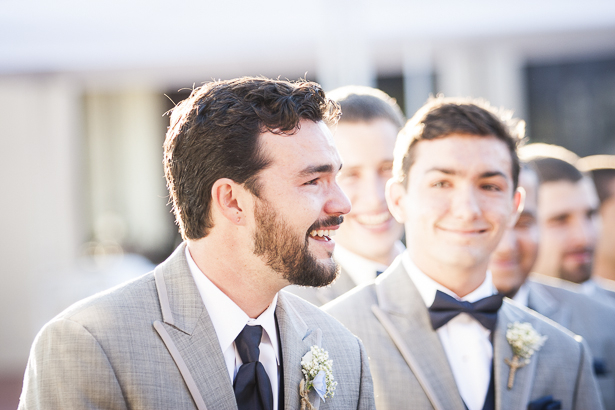 Grooms emotional reaction to seeing the bride for the first time | Crystal & Giampaolo California Real Wedding |Destination Wedding America | Confetti.co.uk