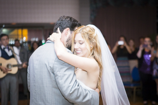 """First dance to """"I just don't think I'll ever get over you"""" by Collin Hay   Crystal & Giampaolo California Real Wedding  Destination Wedding   Confetti.co.uk"""