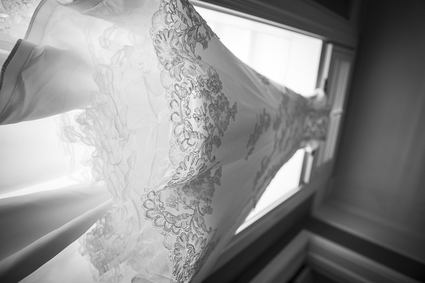 Lace white wedding dress | Crystal & Giampaolo California Real Wedding | Destination Wedding America | Confetti.co.uk