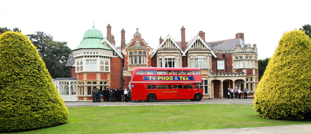 Red London Bus taking the guests to the wedding reception | Fun wedding ideas | Shasha and James real wedding | 1920's Great Gatsby Wedding Confetti.co.uk