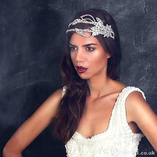 Swarovski Crystal Vintage Inspired Hollywood Deco Headdress By Fabledreams