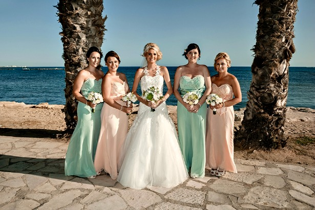 Chantelle and bridesmaids by Silk Blooms