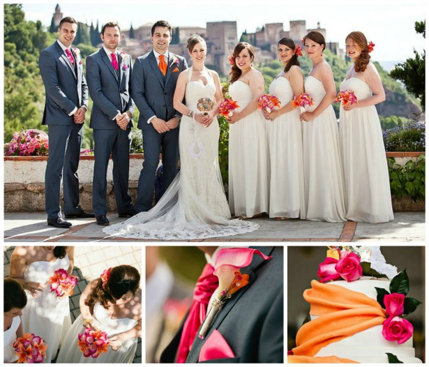 Silk Blooms Spanish wedding abroad | Confetti.co.uk