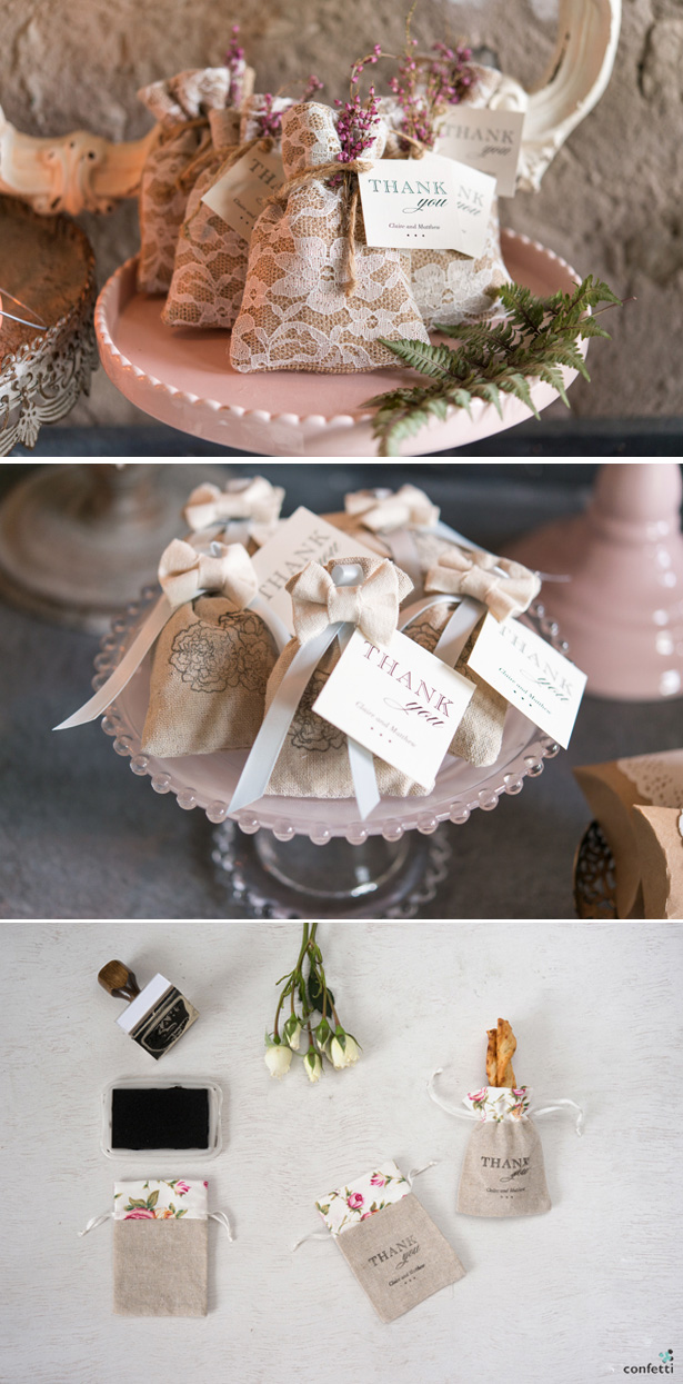 Vinatge Wedding Favour Ideas | Hessian Bags | Confetti.co.uk