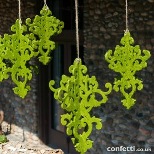 Decorative moss chandelier