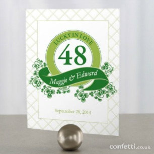 Luck of the Irish table number