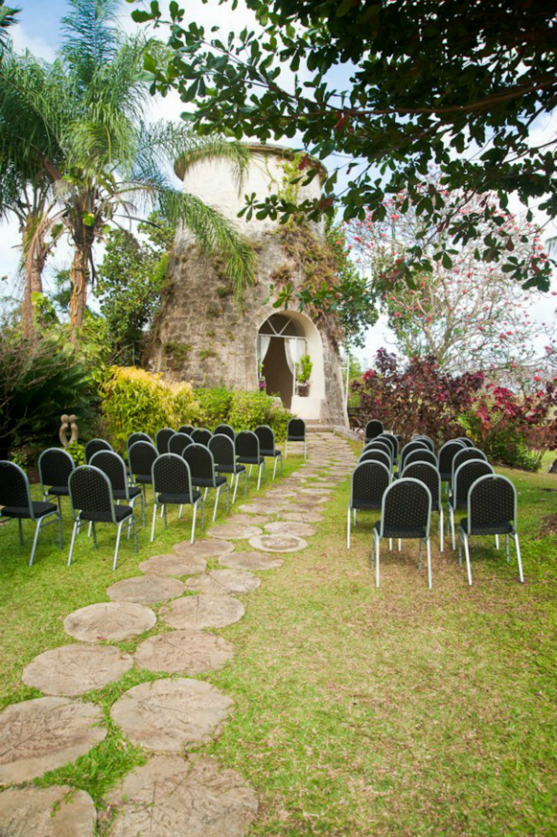 Pollards Mill in Barbados set for a wedding from Confetti.co.uk