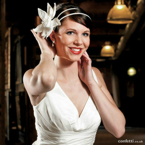 Champagne Fantasy bloom hair accessory fascinator | Confetti.co.uk