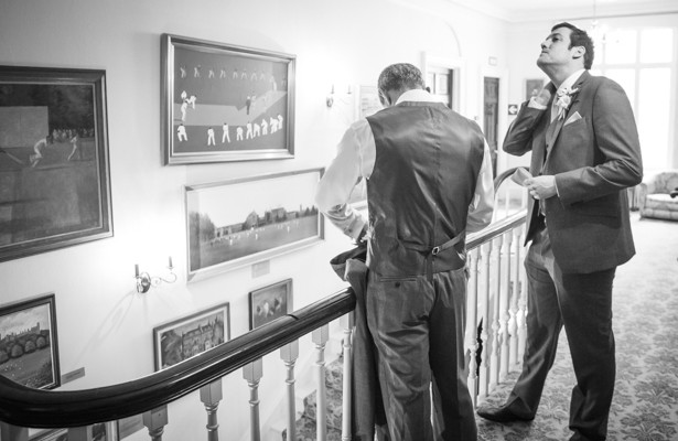 Groom and groomsmen getting ready | Nadine and Roberts Real Wedding | Confetti.co.uk