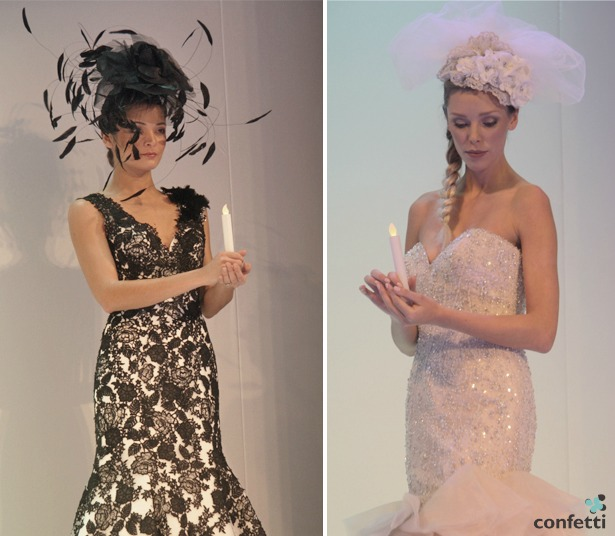 Headdresses and bridal gowns from Allure Bridal | Confetti.co.uk