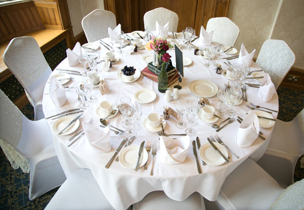 Vintage table decor ideas | Wedding reception at Chartridge Lodge | Lizzie and Greg's Real Wedding | Confetti.co.uk
