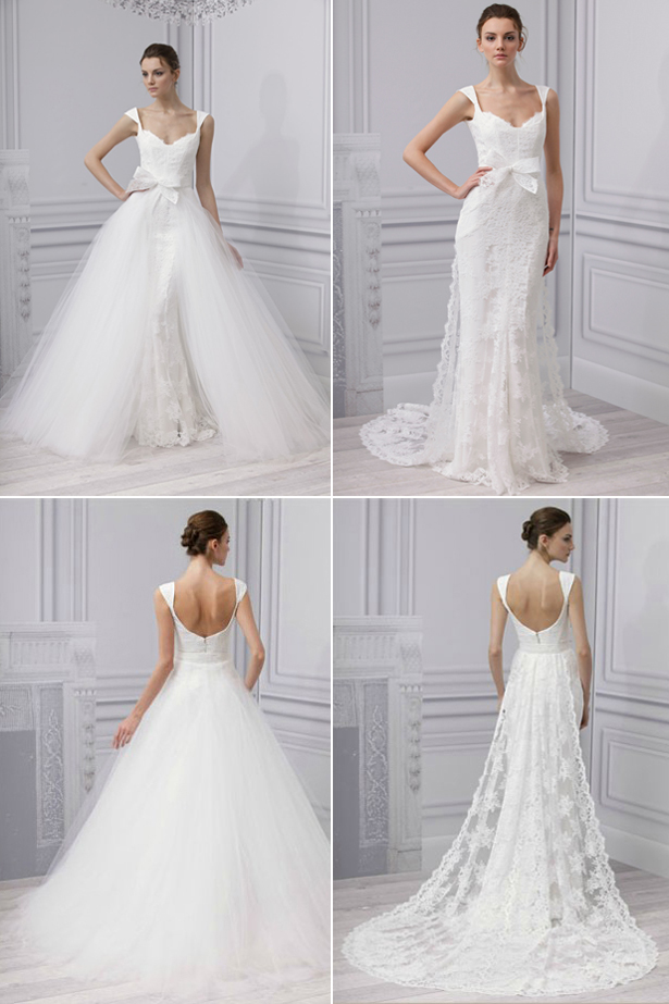 convertible two in one wedding dresses