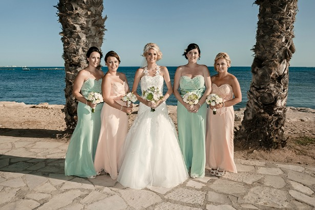 Chantelle's wedding in Cyprus with bouquets by Silk Blooms