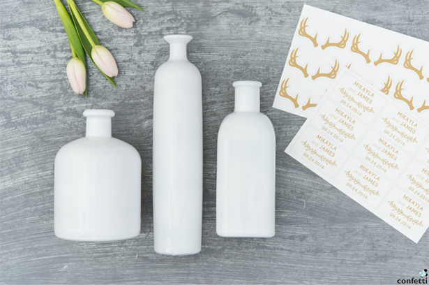 White Floral Bottles | Confetti.co.uk