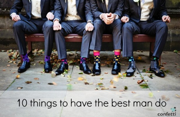 10 things to have the best man to do | Confetti.co.uk