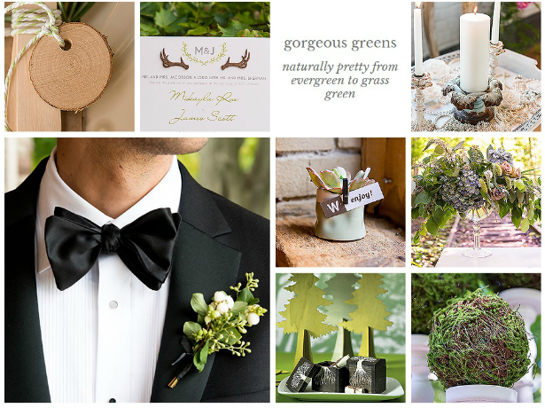 Green wedding decor from Confetti.co.uk
