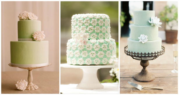 Green wedding cake inspiration from Confetti.co.uk