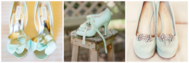 Green wedding shoes inspiration from Confetti.co.uk